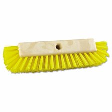 "10"" Polypropylene Dual-Surface Scrub Brush with Handle"