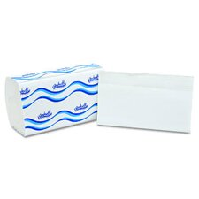 Embossed Single fold Paper Towel in White