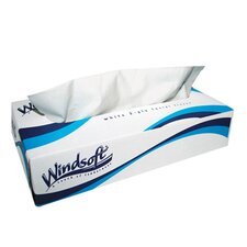 Facial Tissue in Pop-Up Box in White