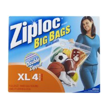 Ziploc X-Large Big Bags with Double Zipper (4 Pack)
