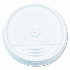 <strong>Dart Container Corp.</strong> Plastic Lids, for Hot/Cold Foam Cups, Sip-Thru Lid, White, 1000/CT