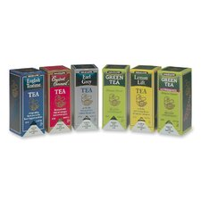 Flavor Teas, 168 per Carton, 6 Assorted Flavors