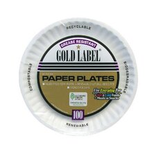 "6"" Uncoated Paper Plate in White"