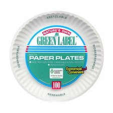 Uncoated Paper Plate in White