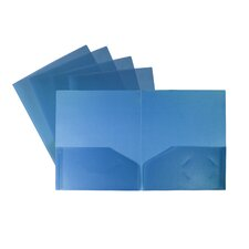 Smooth Pocket Folder (Set of 25)