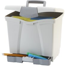Portable File Box with Pull-Out Tray (Set of 2)
