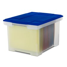 Portable File Tote with Lid (Set of 2)