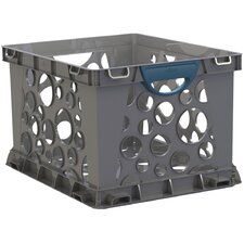 Recycled Crate with Handle (3 Count) (Set of 3)