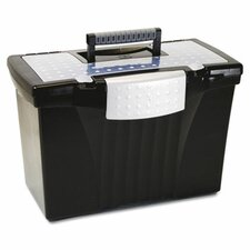 Portable File Storage Box with Organizer Lid, Letter/Legal