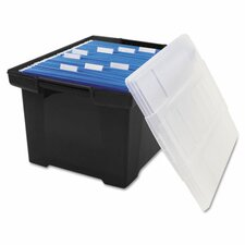 <strong>Storex</strong> File Tote Storage Box