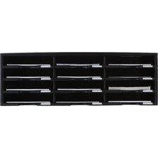 12 Compartment Literature Organizer