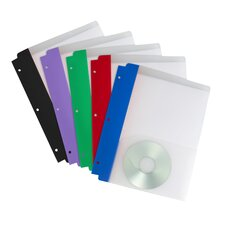Poly Pocket Folder with Holes (Set of 5)