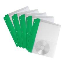 Poly Pocket Folder with Holes (Set of 5)