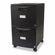 <strong>Storex</strong> 2-Drawer Mobile Filing Cabinet