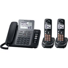 <strong>Panasonic®</strong> Dect 6.0 Two Line Corded/Cordless Phone System
