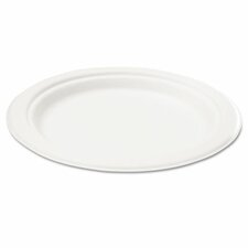 "Naturehouse Bagasse 6"" Plate, 125/Pack"