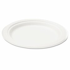 "Naturehouse Bagasse 10"" Plate, 125/Pack"
