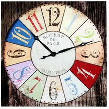 Bistrot De Paris Canvas Wall Clock