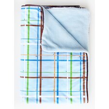 <strong>Caden Lane</strong> Boutique Plaid Piped Blanket
