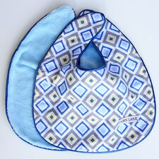 Ikat Diamond Bib Set (Set of 2)