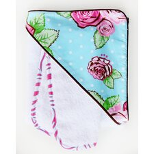 Boutique Rose Dot Hooded Towel Set