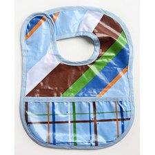Boutique Diagonal Stripe Coated Bib