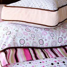 Classic Pink Square Cotton Pillow