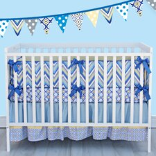 Ikat 3 Piece Crib Bedding Set