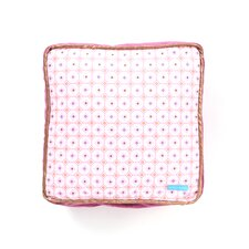 Modern Vintage Pink Square Cotton Pillow