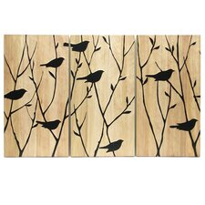 Black Birds Wall Decor (Set of 3)