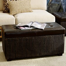 Hudson Woven Bench in Dark Brown