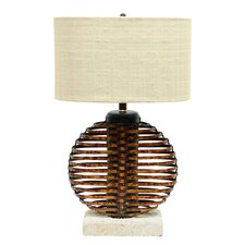 "Ikebana Sphere 27"" H Table Lamp with Drum Shade"