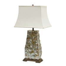 "Lip Shell 29"" H Table Lamp with Rectangle Shade"