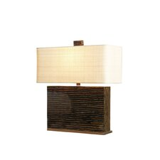 "Inlaid Twig 23.5"" H Table Lamp with Rectangular Shade"