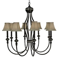 <strong>Framburg</strong> Chanson 8 Light Foyer Chandelier