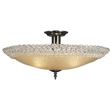 Brocatto 3 Light Semi Flush Mount