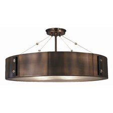 "Oracle 23"" 4 Light Semi Flush Mount"