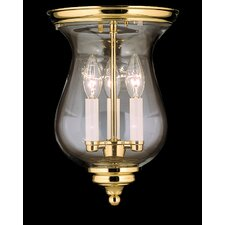 "Independence Hall 13"" 3 Light Flush Mount"