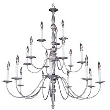 Early American 18 Light Foyer Chandelier