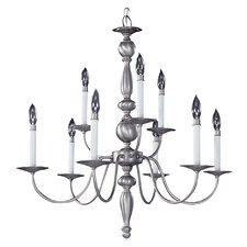 Early American 9 Light Dining Chandelier