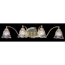 Crystal Nouveau 4 Light Vanity Light