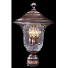 Carcassonne 3 Light Glass Outdoor Post Lantern