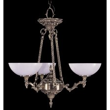 Napoleonic 3 Light Dinette Chandelier