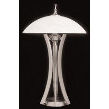 "Solstice Portable 28"" H Table Lamp with Bowl Shade"
