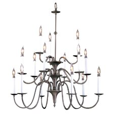 Early American 15 Light Foyer Chandelier