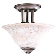 Black Forest 2 Light Semi Flush Mount
