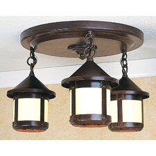 <strong>Arroyo Craftsman</strong> Berkeley 3 Light Semi Flush Mount