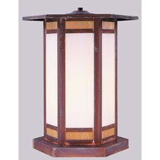 <strong>Arroyo Craftsman</strong> Etoile 1 Light Outdoor Post Lantern