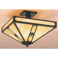<strong>Arroyo Craftsman</strong> Pasadena 4 Light Semi Flush Mount