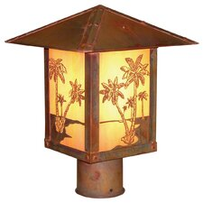 Timber Ridge 1 Light Outdoor Post Lantern with Filigree